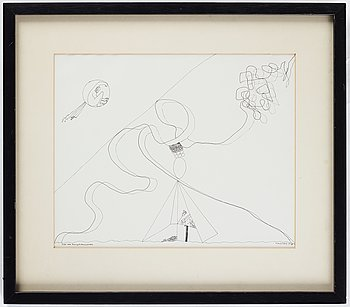 Hans Viksten, indian ink on paper, signed and dated 1978.