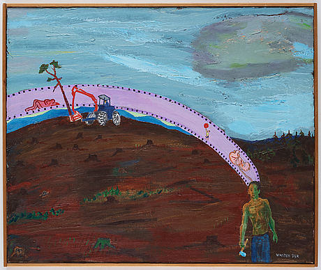 Hans viksten, acrylic on canvas, signed and dated -74.