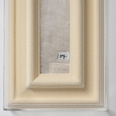 Marie-louise ekman, assemblage in plexiglass box, verso signed m-l ekman and dated 2007.