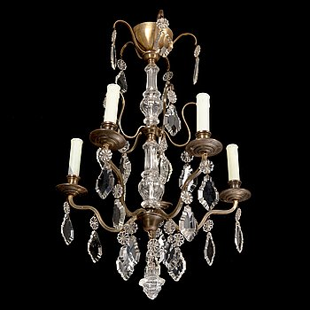 Paavo Tynell, a mid-20th century '1467/5' chandelier for Taito.