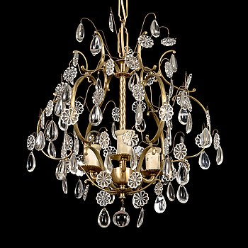 Paavo Tynell, a mid-20th century '1457/3' chandelier for Taito.