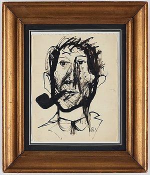 Ragnar Sandberg, indian ink on paper, signed.