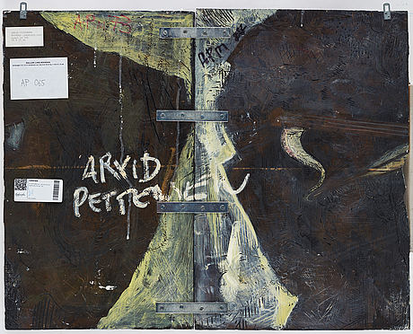 Arvid pettersen, acrylic on wood, signed verso.