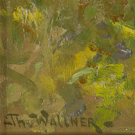 Thure wallner, oil on paper-panel, signed.