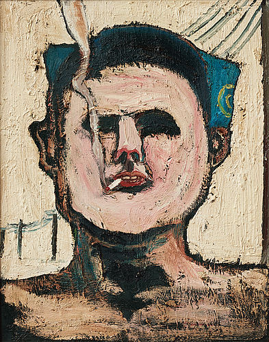 Hans wigert, oil on canvas, signed and dated 1971 on verso.