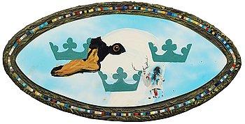 Ernst Billgren. Mixed media, mosaic, panel. Signed Ernst Billgren and dated -88 on verso.