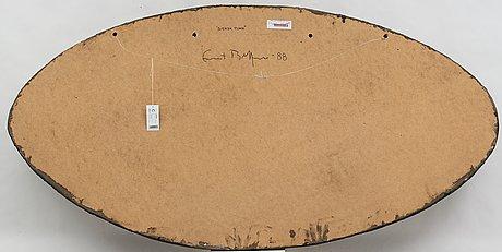 Ernst billgren. blandteknik, mosaik, pannå. signerad ernst billgren och daterad -88 a tergo.
