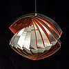 A 'konkylie' ceiling light by louis weisdorf.