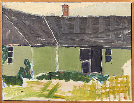 Eve eriksson, oil on canvas, signed and dated a tergo 1966.