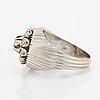 Ring, vitguld med briljant och åttkantslipade diamanter.
