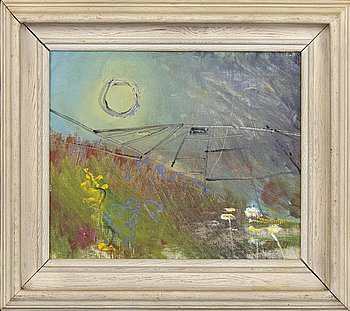Eve Eriksson, oil on canvas, signed and dated 51.