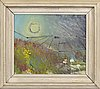 Eve eriksson, olja på pannå, signerad och daterad 51.