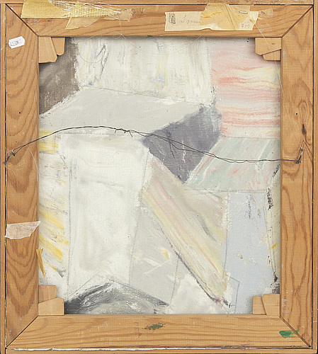 Eve eriksson, oil on panel, signed and dated a tergo 1967.