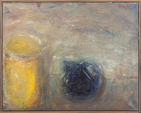 Eve eriksson, oil on canvas, signed and dated.