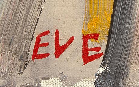 Eve eriksson, olja på duk, signerad och daterad a tergo 1964.