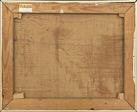Eve eriksson, oli on canvas, signed and dated a tergo 1964.