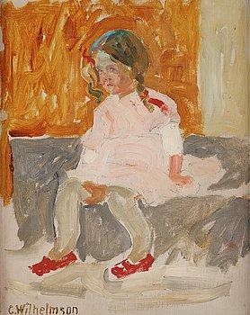 "514. Carl Wilhelmson, ""Ana i röda skor"" (Ana in red shoes)."