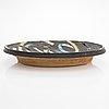 Jun kaneko, a stoneware decorative dish signed kaneko arabia.