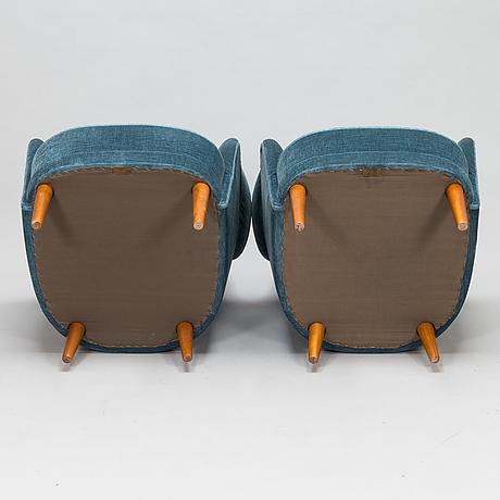 Carl malmsten, a pair of 'samsas' armchairs, ab o.h. sjögren, tranås, sweden.