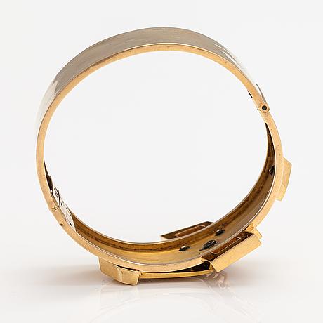 Armband, 18k guld, rosenslipade diamanter. sven ferdinand sundholm, vasa/jakobstad 1871-1888.
