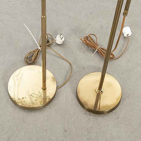 Golvlampor, 2 st, bergboms, 1900-talets mitt.