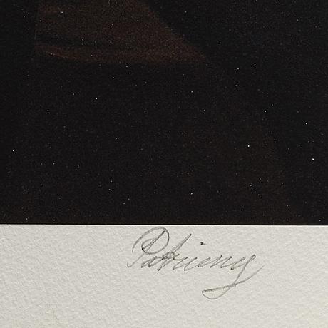 Johan patricny, pigment print signed 10/90.