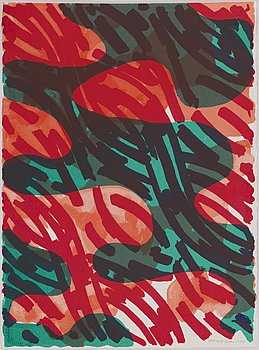 Lennart Rodhe, lithograph in colors,, 1995, signed and numbered EA XI/XXX.
