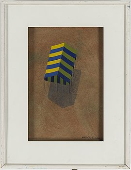 Kristian Krokfors, gouache/watercolour, signed and dated -84.