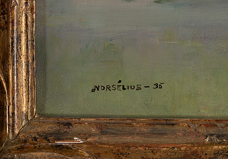 Erik norselius, oil on canvas, signed and dated -35.