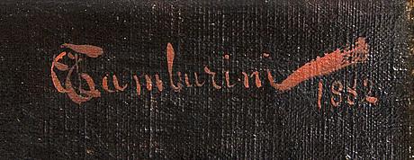 Arnoldo tamburini, olja på duk signerad och daterad 1882.