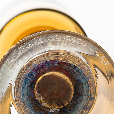 Kaj franck, glass goblet, signed kaj franck nuutajärvi notsjö.