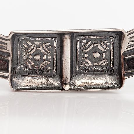 A stelring silver brooch, model 169. kalevala koru, helsinki 1993.