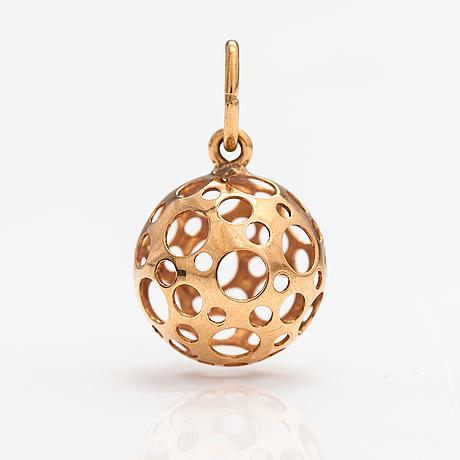 "Liisa vitali, a 14k gold pendant ""leppäkerttu"". westerback, helsinki."