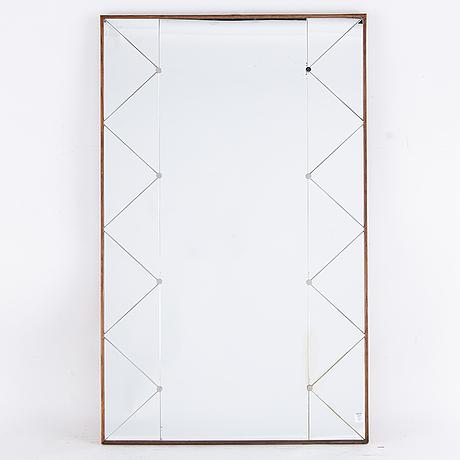 Spegel, ab glas & trä, hovmantorp, 1900-talets andra hälft.