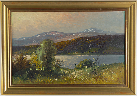 Carl brandt, oil on canvas, signed and dated 1917.