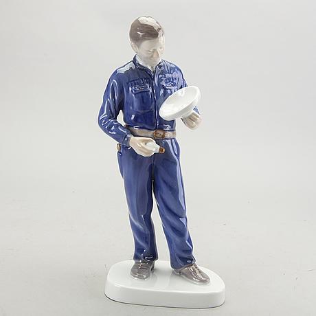 Figurin bing & gröndahl danmark 1900-talets andra hälft porslin.