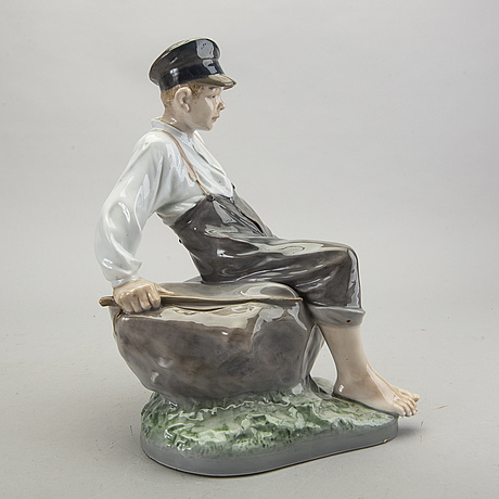 Christian thomsen figurin royal copenhagen danmark 1900-talets andra hälft porslin.