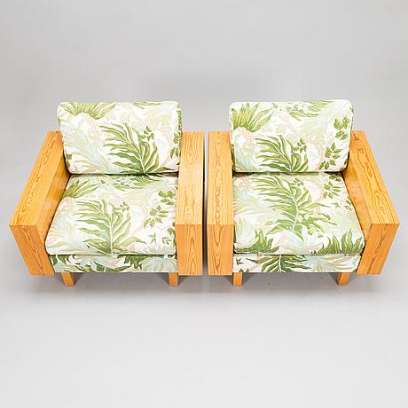 Kaijus & päivi harmia, a pair of armchairs for rintalan huonekalutehdas 1968, finland.