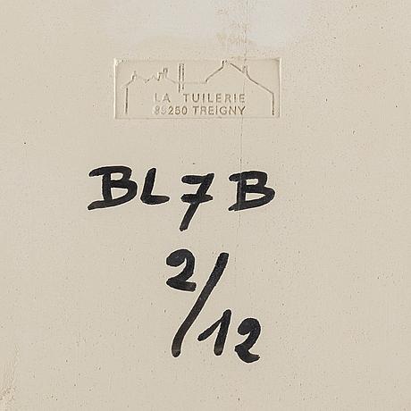 Bengt lindström, a ceramic relief, signed lindström and numbered bl7b 2/12 on verso.
