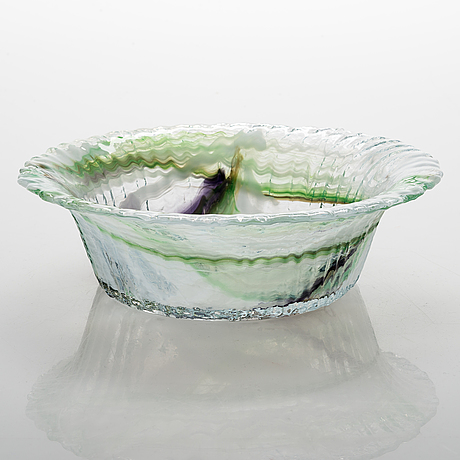 Nanny still, glass bowl model 5830, signed  nanny still riihimäen lasi o.y.