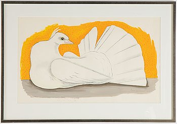 Tyra Lundgren, gouache and watercolour, signed and dated 1975.