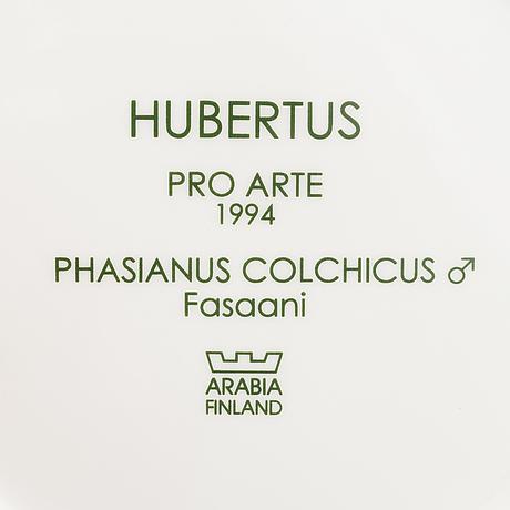 """Dorrit von fieandt, lautanen, keramiikkaa, """"hubertus"""" pro arte 1994, arabia."""