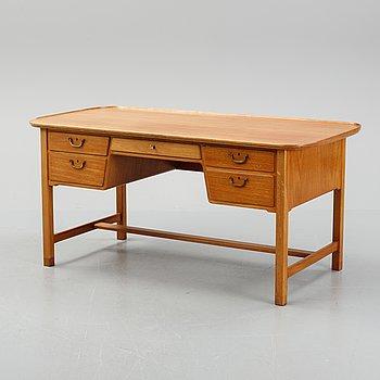 A Swedish mahogany desk, Nordiska Kompaniet, 1948.