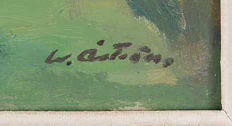 Werner åström, oil on board, signed.