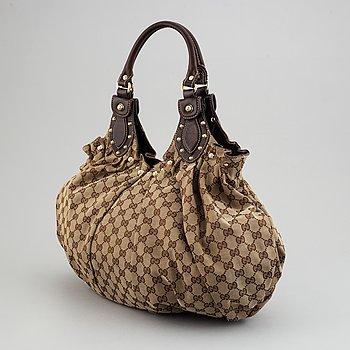 Gucci, monogram canvas bag.