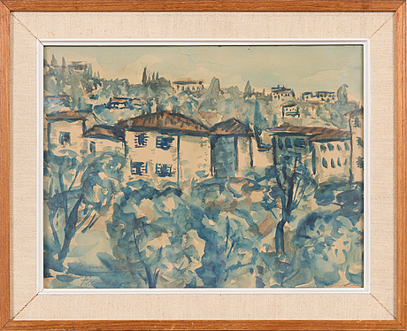 Armas mikola, watercolour, signed and dated -33.