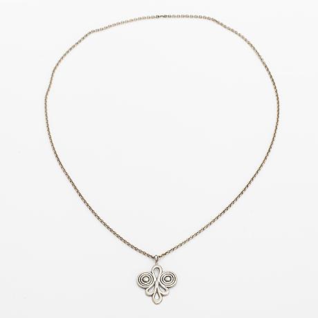 A silver necklace, model 50-1. kalevala koru, helsinki 1943.