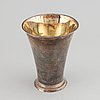 A parcel-gilt swedish silver beaker, mark of eric öbom, lidköping (1778-1797(1808)).