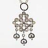 "A silver necklace ""karelian ribbon pendant"", model 39. kalevala koru, helsinki 1943."