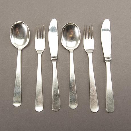 Wiwen nilsson, cutlery, 30 pcs, 1958-59.